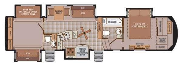 Trilogy 37BH Floorplan Image