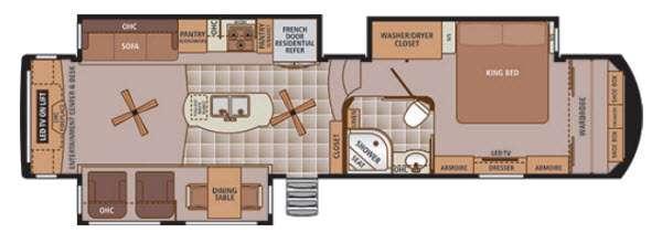Trilogy 38RE Floorplan Image