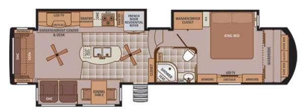 Trilogy 38RL Floorplan Image