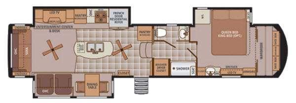 Trilogy 38WT Floorplan Image