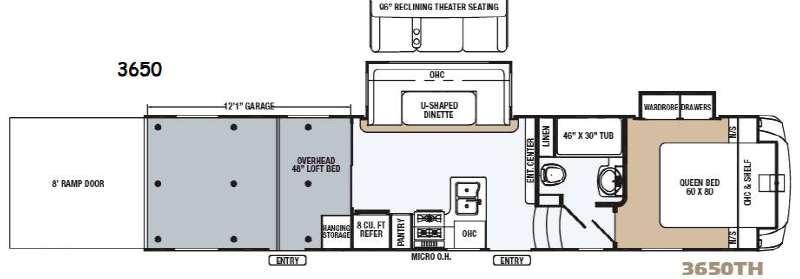 Revelation 3650 Floorplan Image