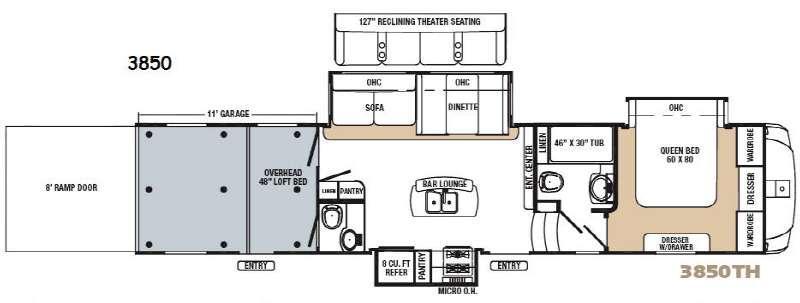 Revelation 3850 Floorplan Image
