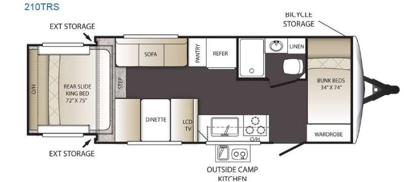 Outback Terrain Ultra Lite 210TRS Floorplan Image