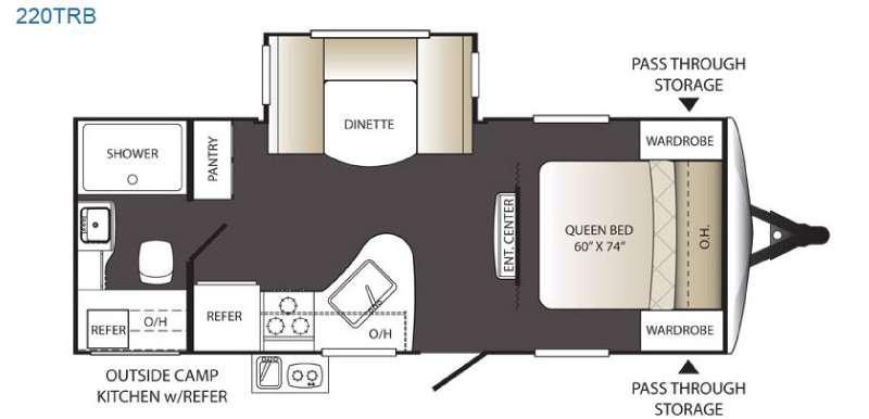 Outback Terrain Ultra Lite 220TRB Floorplan Image