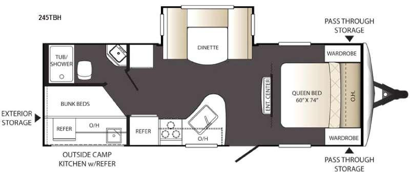 Outback Terrain Ultra Lite 245TBH Floorplan Image