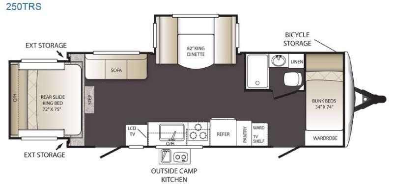 Outback Terrain Ultra Lite 250TRS Floorplan Image