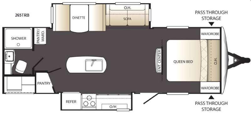 Outback Terrain Ultra Lite 265TRB Floorplan Image