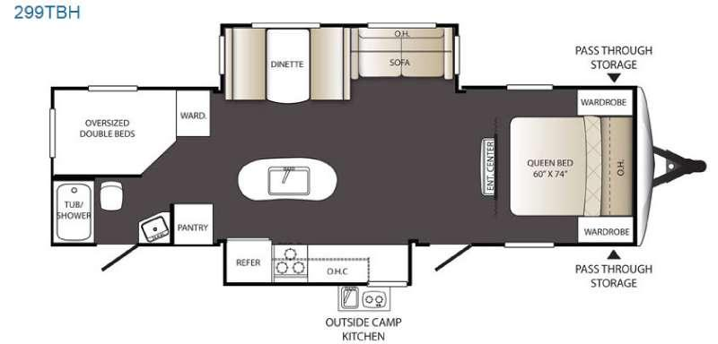 Outback Terrain Ultra Lite 299TBH Floorplan Image