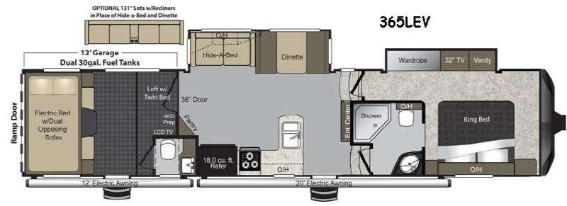 Floorplan - 2016 Keystone RV Raptor 365LEV