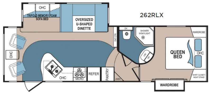 Floorplan - 2016 Denali 262RLX Fifth Wheel