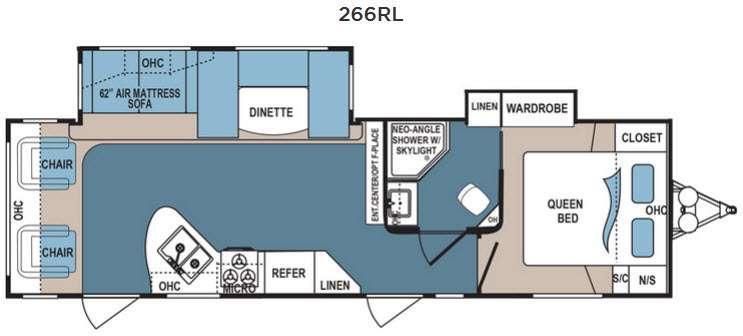 Floorplan - 2016 Dutchmen RV Denali 266RL