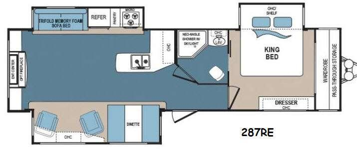 Floorplan - 2016 Dutchmen RV Denali 287RE