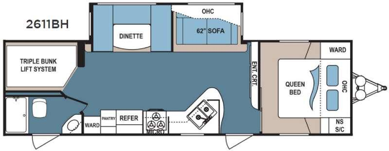 Floorplan - 2016 Dutchmen RV Denali Lite 2611BH