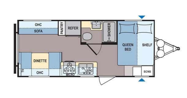 Floorplan - 2016 Dutchmen RV Coleman Lantern Series 192RDSWE