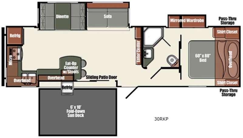 Floorplan - 2016 Gulf Stream RV Gulf Breeze Champagne Series 30RKP