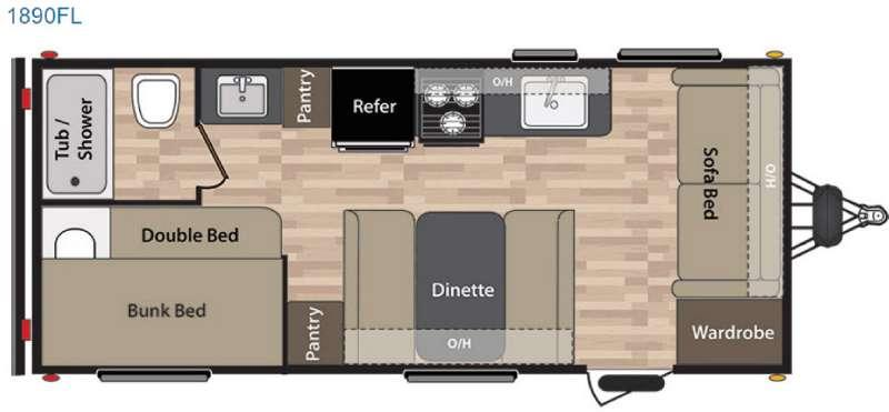 Floorplan - 2016 Keystone RV Summerland 1890FL