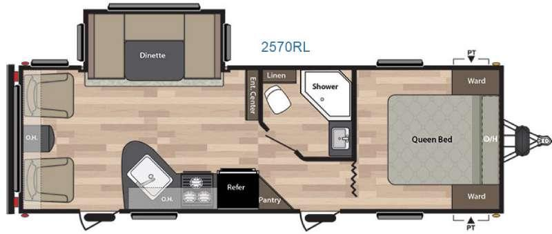 Floorplan - 2016 Keystone RV Summerland 2570RL