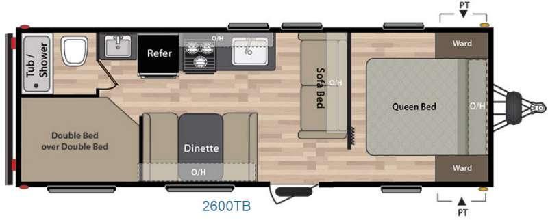 Floorplan - 2016 Keystone RV Summerland 2600TB