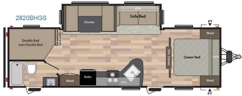 Floorplan - 2016 Keystone RV Summerland 2820BHGS