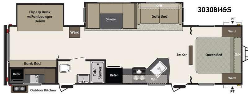 Floorplan - 2016 Keystone RV Summerland 3030BHGS