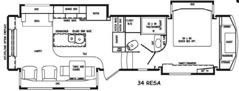 Floorplan - 2016 DRV Luxury Suites Elite Suites 34 RESA