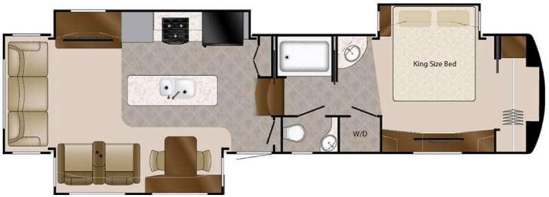 Floorplan - 2016 DRV Luxury Suites Elite Suites 38 PS3