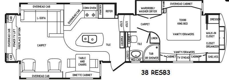 Floorplan - 2016 DRV Luxury Suites Elite Suites 38 RESB3