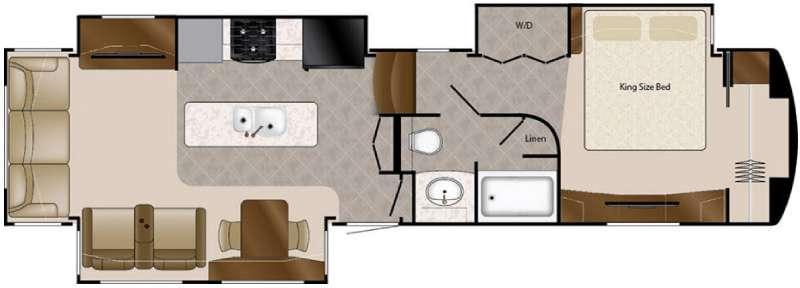 Floorplan - 2016 DRV Luxury Suites Elite Suites 38 RSB3