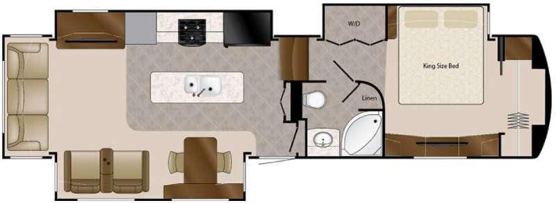 Floorplan - 2016 DRV Luxury Suites Elite Suites 38 RSSB3