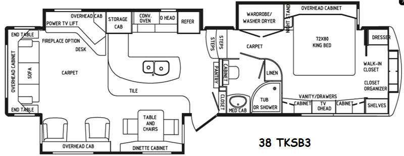 Floorplan - 2016 DRV Luxury Suites Elite Suites 38 TKSB3