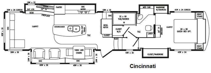 Floorplan - 2016 DRV Luxury Suites Elite Suites 43 Cincinnati