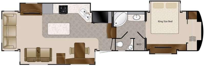 Floorplan - 2016 DRV Luxury Suites Elite Suites 43 Dallas