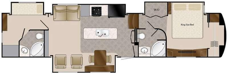 Floorplan - 2016 Elite Suites 43 Manhattan Fifth Wheel