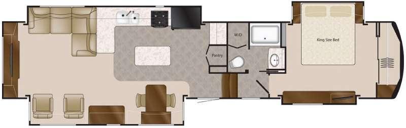 Floorplan - 2016 DRV Luxury Suites Elite Suites 44 Memphis