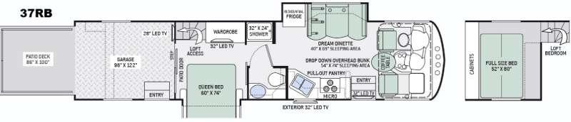 Outlaw 37RB Floorplan Image