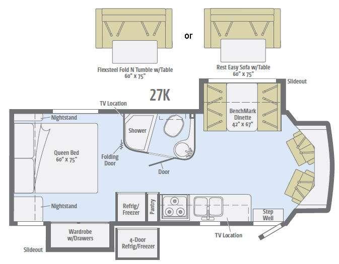 Floorplan - 2016 Winnebago Aspect 27K