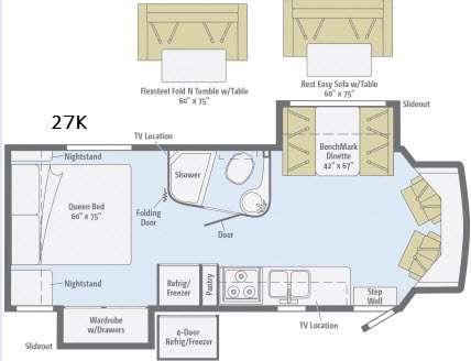 Floorplan - 2016 Itasca Cambria 27K