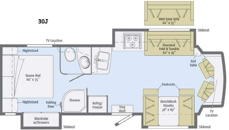 Floorplan - 2016 Itasca Cambria 30J