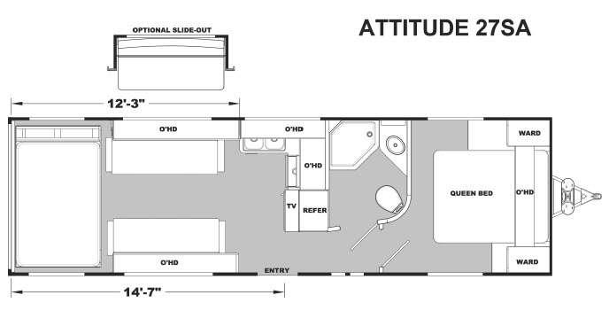 Floorplan - 2016 Eclipse Attitude Metal 27SA