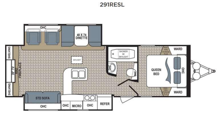 Floorplan - 2016 Dutchmen RV Kodiak Ultimate 291RESL