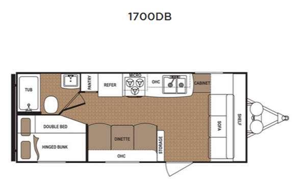 Floorplan - 2016 Dutchmen RV Aspen Trail 1700DB