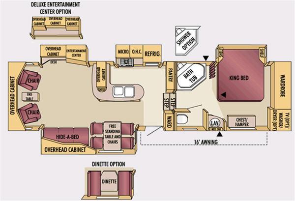 Floorplan - 2007 Jayco Designer 34RLQS