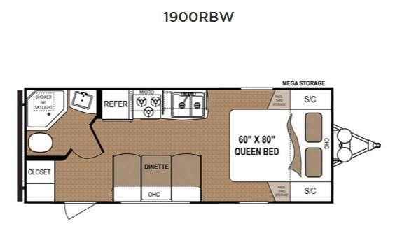Floorplan - 2016 Dutchmen RV Aspen Trail 1900RBW