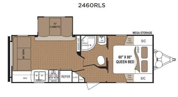 Floorplan - 2016 Dutchmen RV Aspen Trail 2460RLS