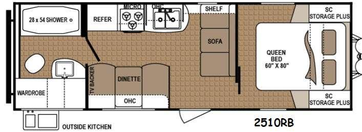 Floorplan - 2016 Dutchmen RV Aspen Trail 2510RB