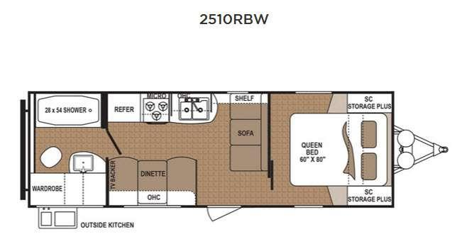 Floorplan - 2016 Dutchmen RV Aspen Trail 2510RBW