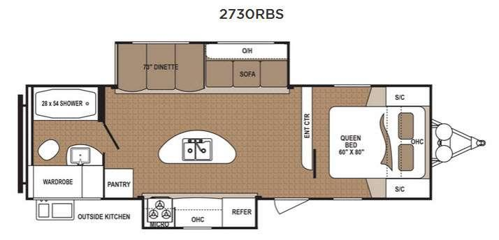 Floorplan - 2016 Dutchmen RV Aspen Trail 2730RBS
