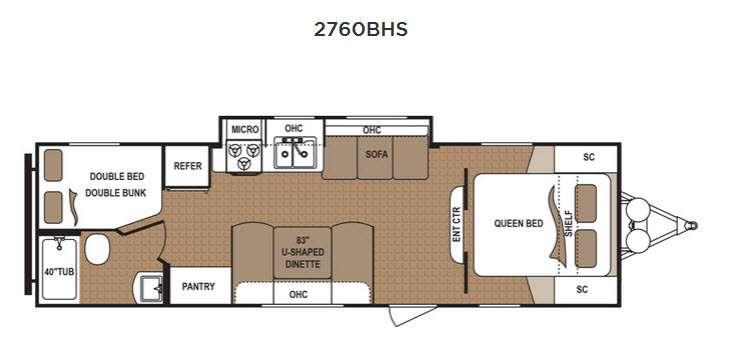 Floorplan - 2016 Dutchmen RV Aspen Trail 2760BHS