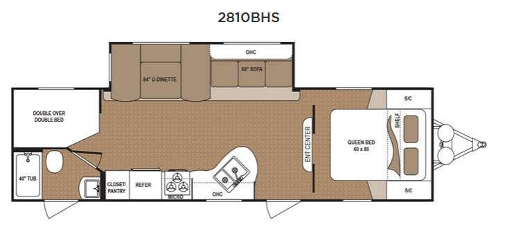 Floorplan - 2016 Dutchmen RV Aspen Trail 2810BHS