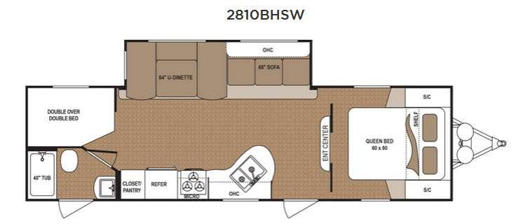 Floorplan - 2016 Dutchmen RV Aspen Trail 2810BHSW